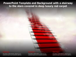 Powerpoint Template And Background With A Stairway To The Stars Covered In Deep Luxury Red Carpet