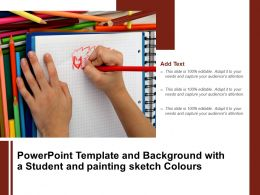Powerpoint Template And Background With A Student And Painting Sketch Colours
