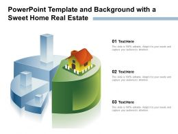 Powerpoint Template And Background With A Sweet Home Real Estate