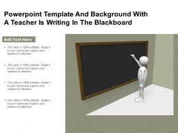 Powerpoint Template And Background With A Teacher Is Writing In The Blackboard