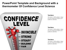 Powerpoint Template And Background With A Thermometer Of Confidence Level Science