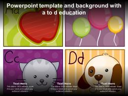 Powerpoint Template And Background With A To D Education