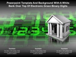 Powerpoint Template And Background With A White Bank Over Top Of Electronic Green Binary Digits