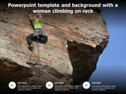 Powerpoint Template And Background With A Woman Climbing On Rock