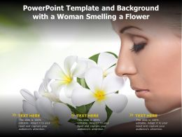 Powerpoint Template And Background With A Woman Smelling A Flower