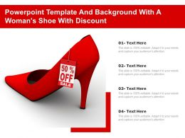 Powerpoint Template And Background With A Womans Shoe With Discount On White 3d Render