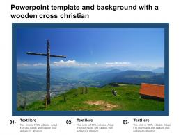 Powerpoint Template And Background With A Wooden Cross Christian