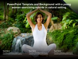 Powerpoint Template And Background With A Young Woman Exercising Outside In Natural Setting