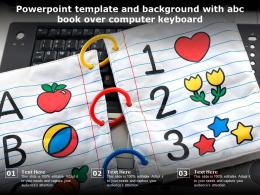 Powerpoint Template And Background With Abc Book Over Computer Keyboard