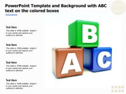 Powerpoint Template And Background With ABC Text On The Colored Boxes