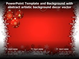 Powerpoint Template And Background With Abstract Artistic Background Decor Vector