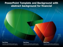 Powerpoint Template And Background With Abstract Background For Financial