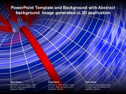 Powerpoint Template And Background With Abstract Background Image Generated In 3d Application