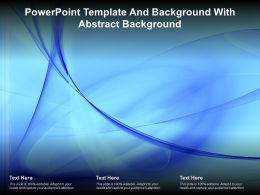 Powerpoint Template And Background With Abstract Background