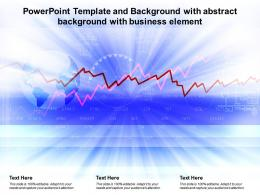 Powerpoint Template And Background With Abstract Background With Business Element