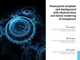 Powerpoint Template And Background With Abstract Blue And Black Rendering Of Timepieces