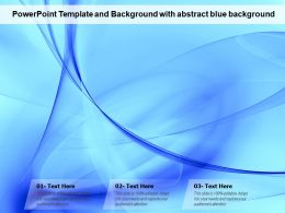 Powerpoint Template And Background With Abstract Blue Background
