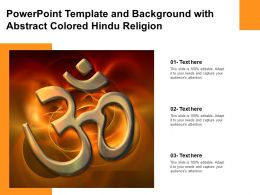 Powerpoint Template And Background With Abstract Colored Hindu Religion