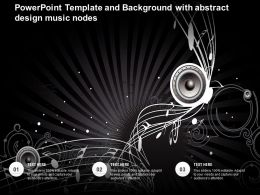 Powerpoint Template And Background With Abstract Design Music Nodes