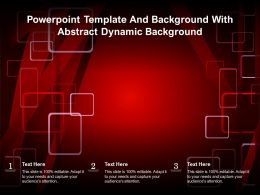 Powerpoint Template And Background With Abstract Dynamic Background