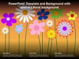 Powerpoint Template And Background With Abstract Floral Background