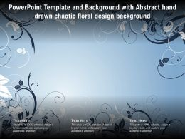 Powerpoint Template And Background With Abstract Hand Drawn Chaotic Floral Design