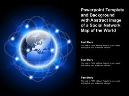 Powerpoint Template And Background With Abstract Image Of A Social Network Map Of The World