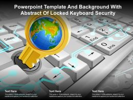 Powerpoint Template And Background With Abstract Of Locked Keyboard Security