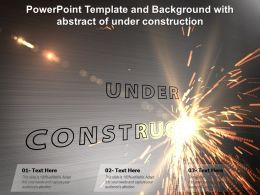 Powerpoint Template And Background With Abstract Of Under Construction