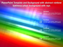 Powerpoint Template And Background With Abstract Rainbow Luminous Urban Background With Rays