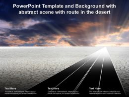 Powerpoint Template And Background With Abstract Scene With Route In The Desert