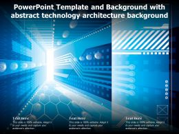 Powerpoint Template And Background With Abstract Technology Architecture Background
