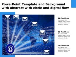 Powerpoint Template And Background With Abstract With Circle And Digital Flow