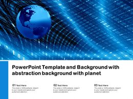 Powerpoint Template And Background With Abstraction Background With Planet
