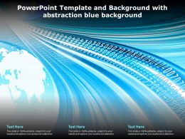 Powerpoint Template And Background With Abstraction Blue Background