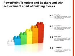 Powerpoint Template And Background With Achievement Chart Of Building Blocks
