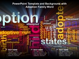 Powerpoint Template And Background With Adoption Family Word