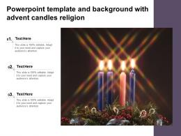 Powerpoint Template And Background With Advent Candles Religion