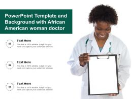 Powerpoint Template And Background With African American Woman Doctor