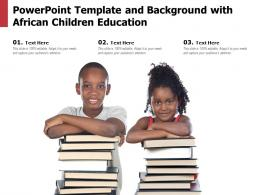 Powerpoint Template And Background With African Children Education