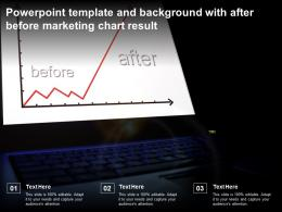 Powerpoint Template And Background With After Before Marketing Chart Result