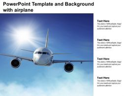 Powerpoint Template And Background With Airplane