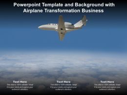Powerpoint Template And Background With Airplane Transformation Business