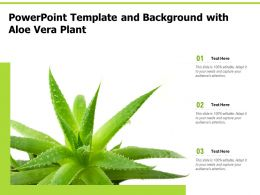 Powerpoint Template And Background With Aloe Vera Plant