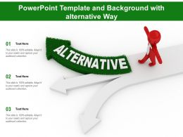 Powerpoint Template And Background With Alternative Way
