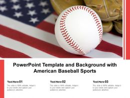 Powerpoint Template And Background With American Baseball Sports