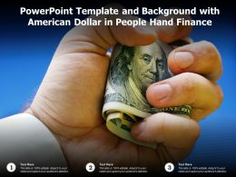 Powerpoint Template And Background With American Dollar In People Hand Finance