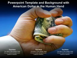 Powerpoint Template And Background With American Dollar In The Human Hand