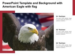 Powerpoint Template And Background With American Eagle With Flag