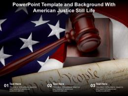 Powerpoint Template And Background With American Justice Still Life